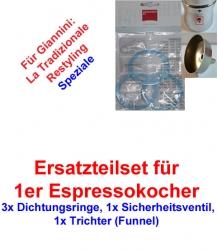 1x Set Ersatzteil 1er Espressokocher Giannini