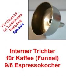 1x Trichter (Funnel) 9/6 Espressokocher Giannini