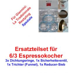 1x Set Ersatzteil 6/3 Espressokocher Giannini