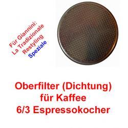 Oberfilter 6/3 Tassen Espressokocher Giannini