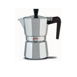 Nina 3 Tassen Aluminium Espressokocher silber