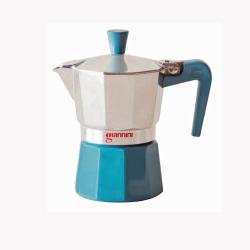 Nina 3 Tassen Aluminium Espressokocher blau