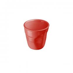 Rote Crumble Espressotasse Giannini